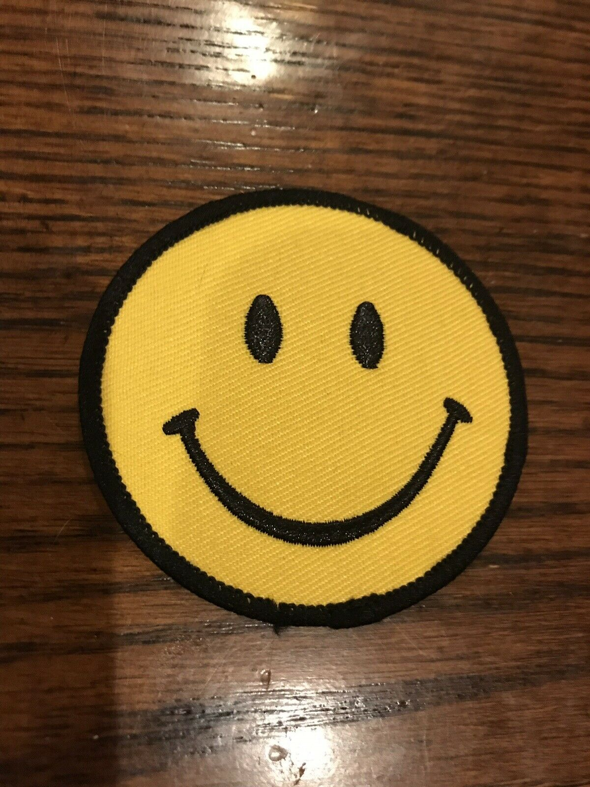 Camo Smiley Face Patch Iron On 100/% Embroidered