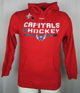 81de0b83f Image is loading Washington-Capitals-Playoff-Reebok-Men-Pullover-Hooded- Sweatshirt-