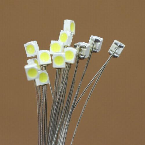 Vorgelötete Mikrolitzenleiter Warmweiß SMD Led 3528 NEU T3528WM 20-40Stk