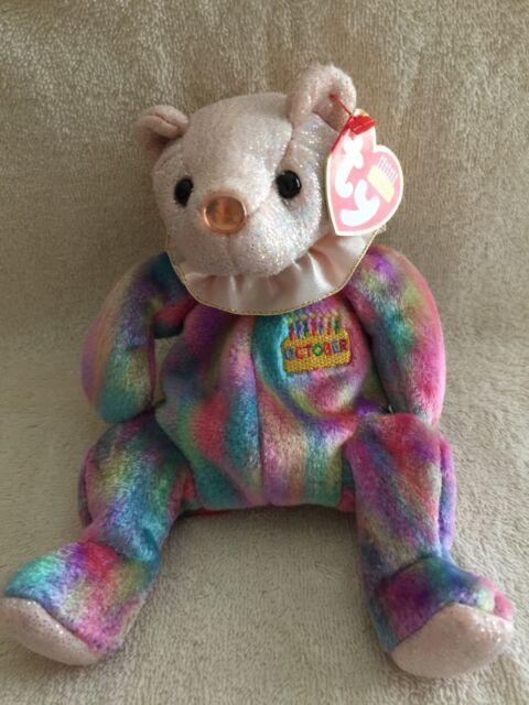 Ty October Birthday Bear Opal Birthstone (7
