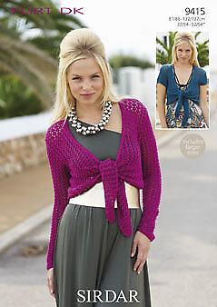 Boleros Flirt DK 9415 Sirdar Womens Knitting Pattern