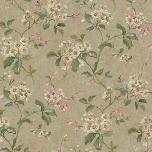 Vintage-Look-Flowering-Dogwood-Branches-Wallpaper-RL9562