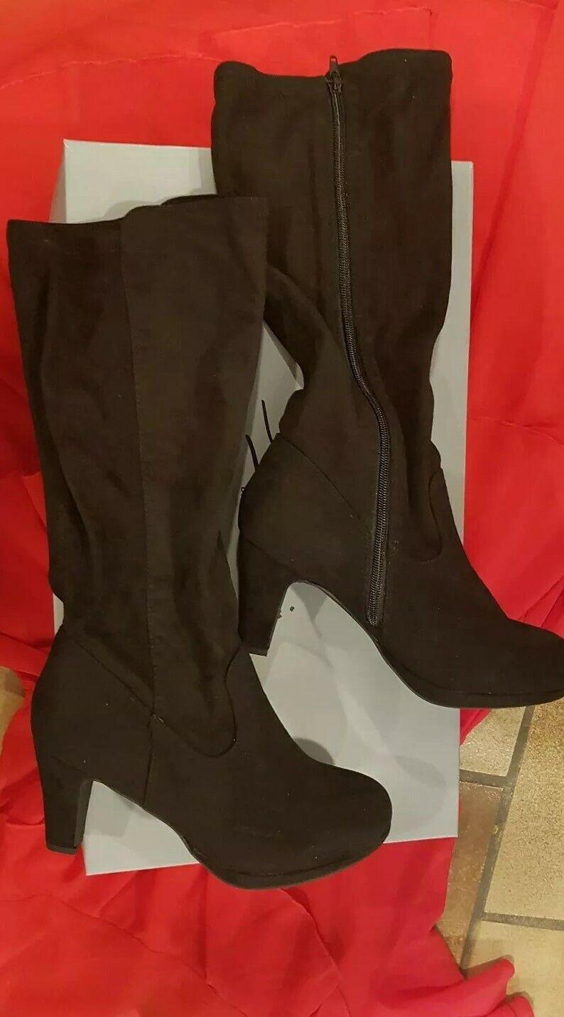 Damen Schuhe  Stiefel Gr 38 39  Schwarz