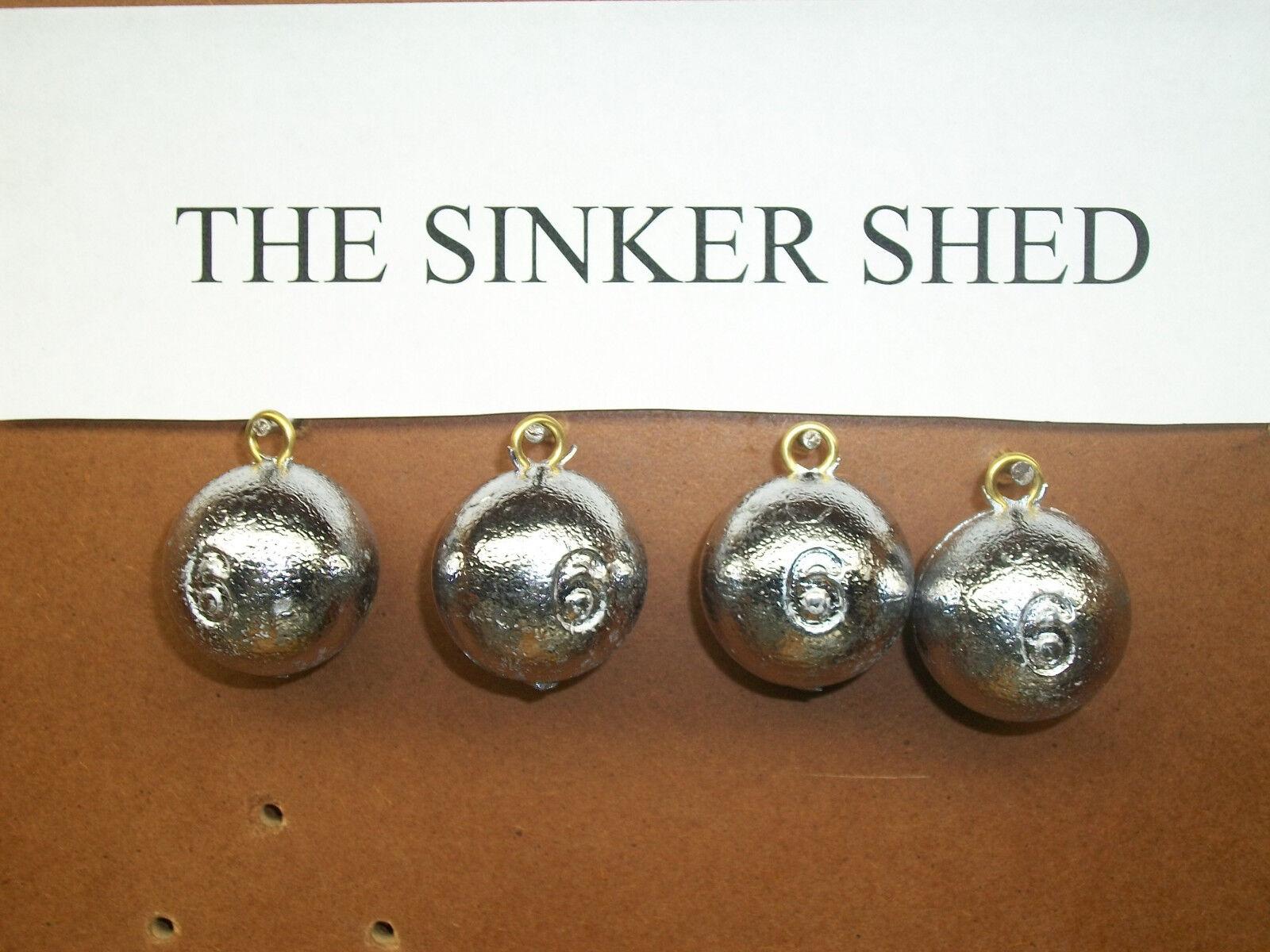 6 - oz cannonball sinkers - 6 choose quantity 10/25/50 - FREE SHIPPING 79beb2