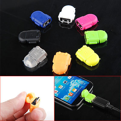 Hot Android Robot Micro USB Host OTG Adapter Cable for Samsung Galaxy S3/4 Note2