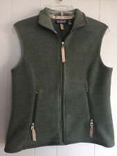Patagonia Synchilla Womens Fleece Vest Size Med Forest Green Zip Up