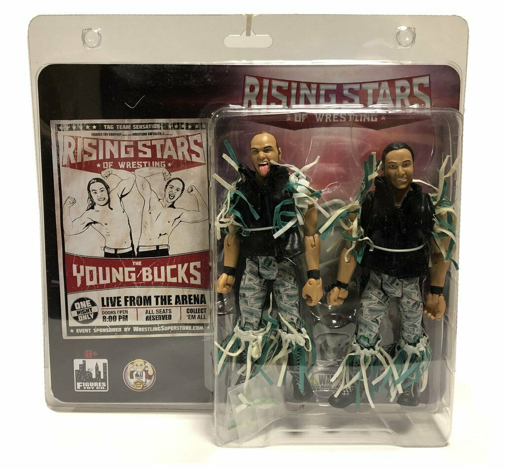 Official Rising Stars of Wrestling - Young Bucks of the Elite Action Figures