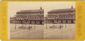 Napoli Palazzo Reale Italia Italia Stereo Sommer Vintage Albumina Ca 1870