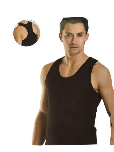 Uomo Maglietta Muscolare x-forma Tank Top Sotto Camicia SUPER STRETCH NERO 70090
