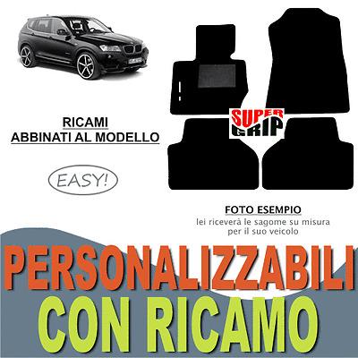 4 Fix Compatibili! RICAMO TAPPETI PEUGEOT 106 SU MISURA RALLYE bianco