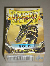 GOLD Dragon Shield Box 100 Standard Size Protector Sleeves! Sealed! New