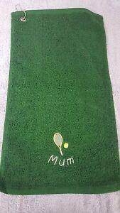 TENNIS-O-badminton-Design-Asciugamano-con-gancio-con-decorazioni-personalizzato