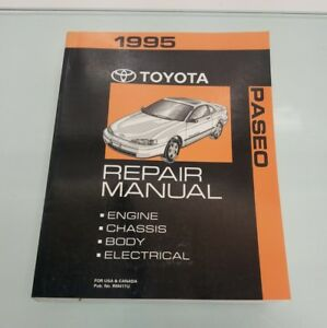1995 toyota paseo repair manual engine chassis body electrical no rh ebay com 1995 Toyota Supra MK4 1995 Toyota Supra Interior