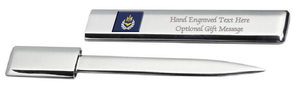 Engraved Post Lettre Bottle Opener Raf Armée de L'Air Insignes Rang Maîtresse