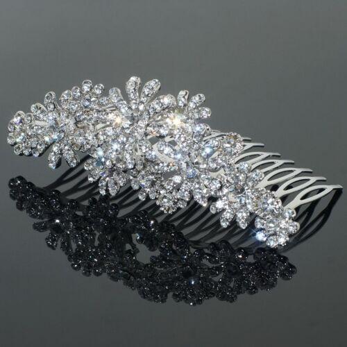 C09 Clear Austrian Rhinestone Crystal Hair Comb Wedding Tiara Bridal Party Gift