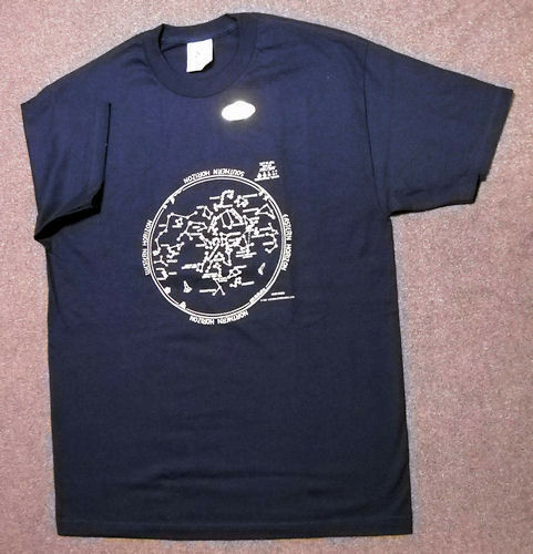 SUMMER STAR CHART ASTRONOMY  T-SHIRT.YOUTH SMALL..  NEW IN PACKAGE.