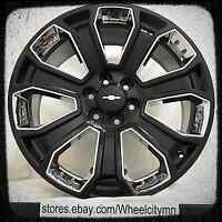 20 Inch Gloss Black Chrome 2017 Gmc Denali Oe Factory Wheels Suburban Ltz 6x5.5
