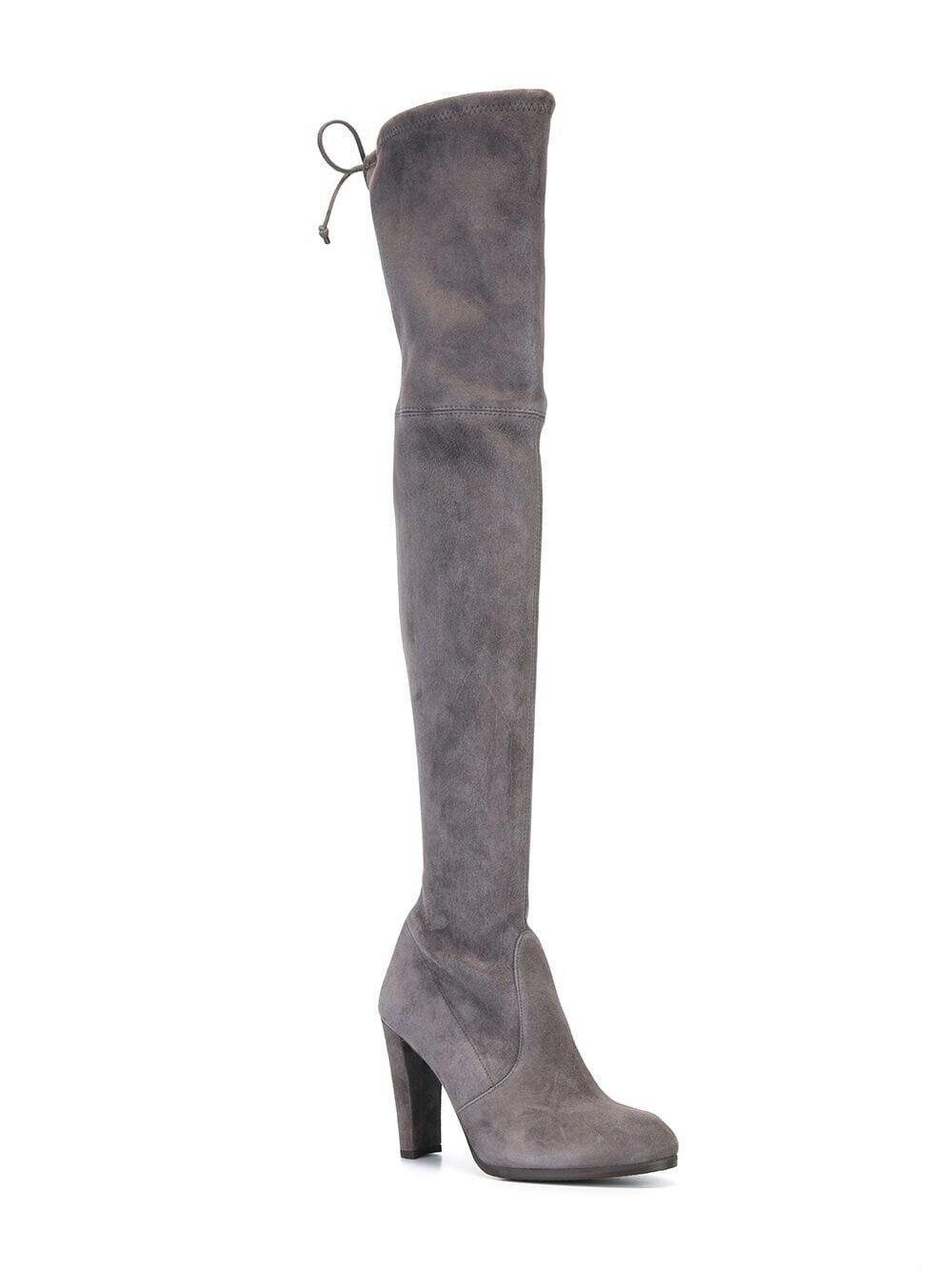 Nouveau Stuart Weitzman Highland gris daim Over-the-Knee Cravate Bottes Taille 9.5 798.00