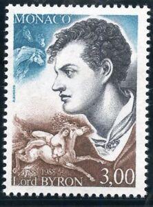 Stamp / Timbre De Monaco N° 1655 ** Georges Noel Gordon / Lord Byron / Ecrivain