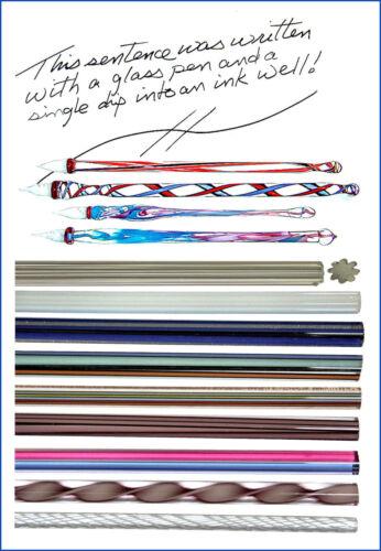 mit Anleitung 9 Farben-Set zur Herstellung von Federhaltern aus Glas