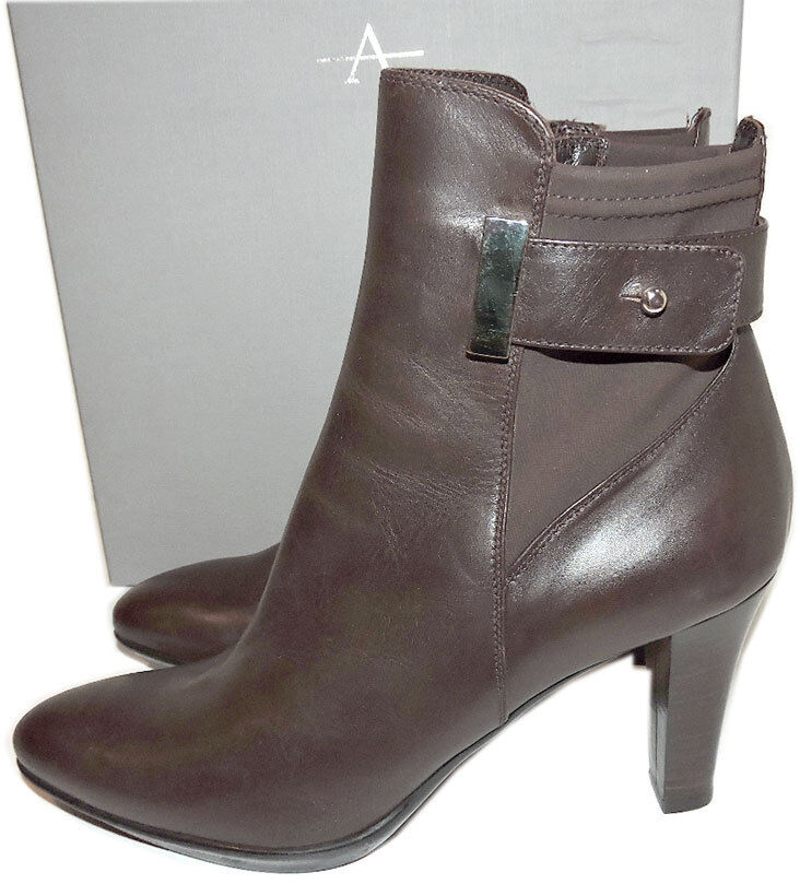 Aquatalia Short Boots Ruby Dry Weatherproof Leather Ankle Ankle Ankle Booties shoes 10 092845