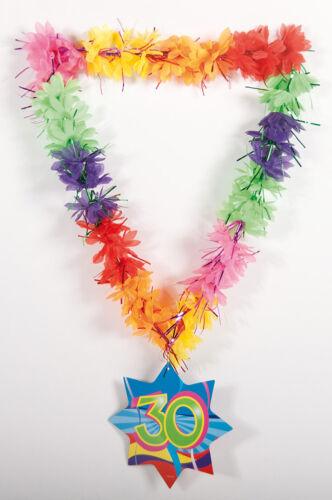 Hawaiian oripeaux Lei 30TH Anniversaire Âge Collier