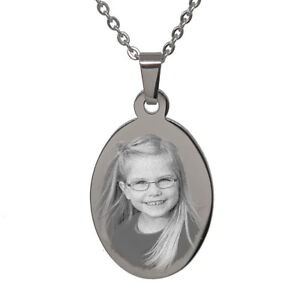 Personalised-Photo-Text-Engraved-Oval-Pendant-Necklace-Stainless-Steel