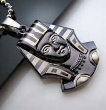 New Gift Unisex's Men's Titanium Steel Pendant Egyptian Pharaoh Necklace Chain