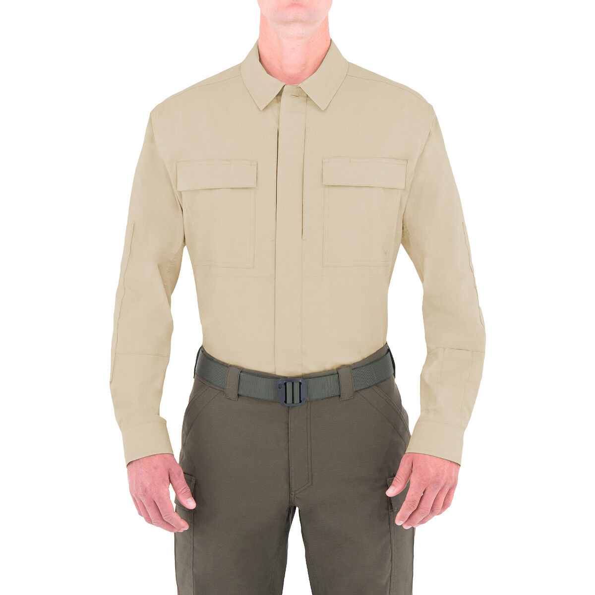 First Tactical Mens Tactix Long Sleeve BDU Shirt Military Army Uniform Top Khaki