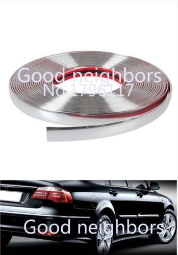 3 Meters 15mm Chrome DIY Moulding Trim Strip For Car Window Bumper Grille Silver