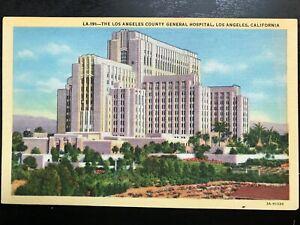 Vintage-Postcard-gt-1933-gt-Los-Angeles-County-General-Hospital-gt-Los-Angeles