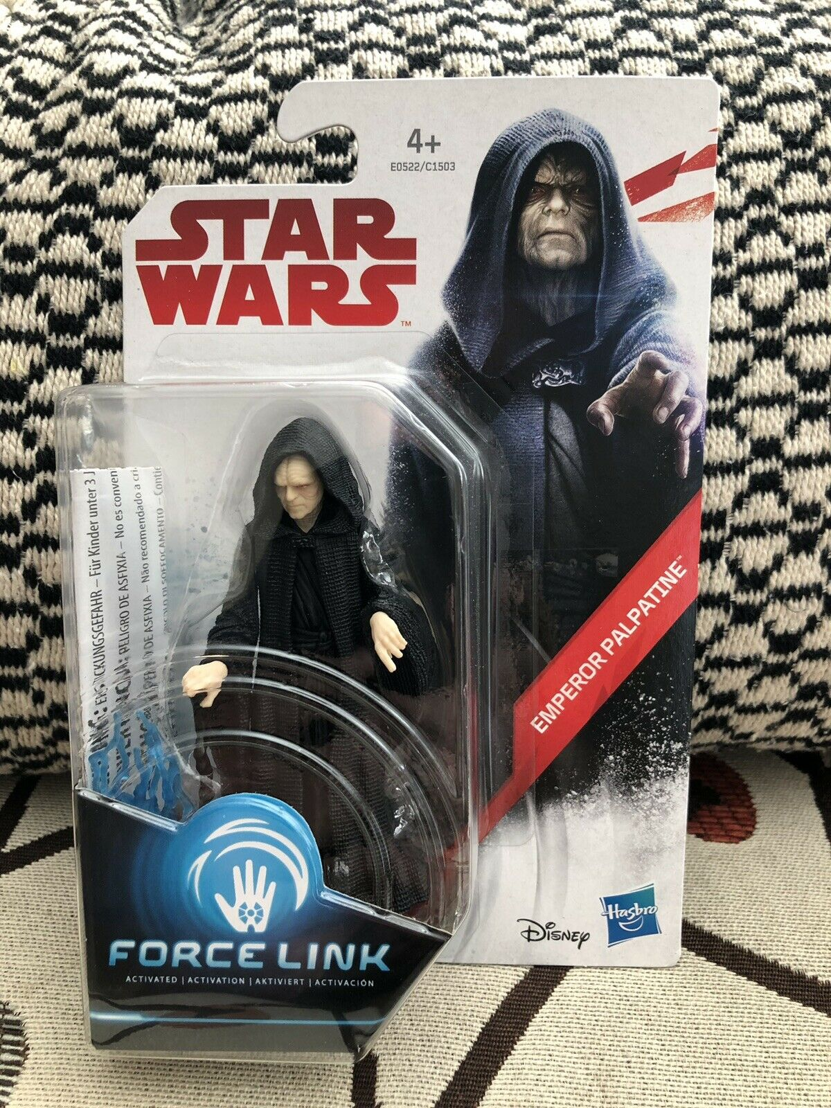 RARE  Estrella Guerras Force Link TLJ  - - - Emperor Palpatine - Case Fresh 12bb92