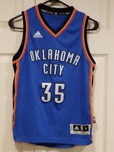0b8604ebc Vintage Adidas Boys Medium Blue NBA Kevin Durant Oklahoma City ...