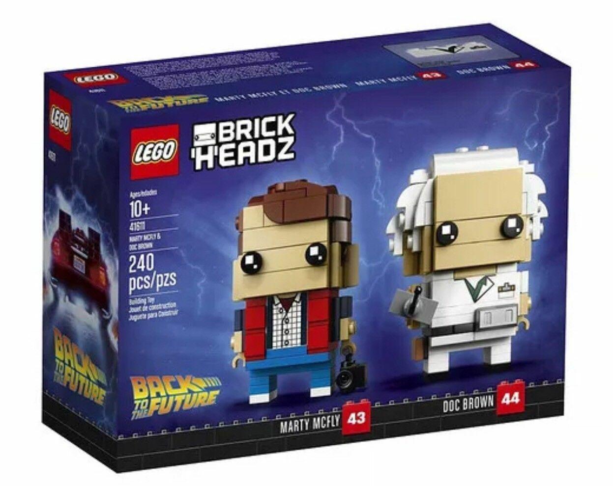 LEGO - 41611 BrickHeadz Marty McFly and Doc braun Back to the Future Set
