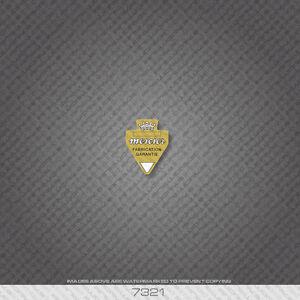 07321 Mercier Bicycle Head Badge Sticker - Decal - Transfer