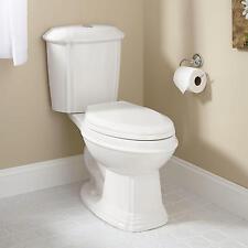 Regent Dual-Flush Water Closet (Elongated Bowl Toilet / Chrome Flush Button on