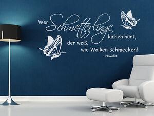 Wandtattoo Spruche Wer Schmetterlinge Lachen Hort Der Weiss Zitate Wohnzimmer Ebay