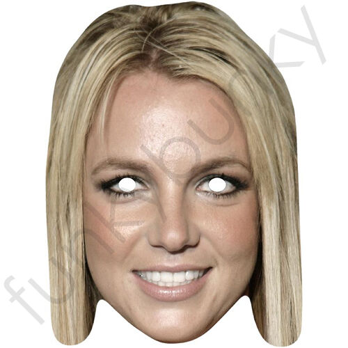 Britney Spears Celebrity Singer American Card Mask All Our Masks Are Pre-Cut