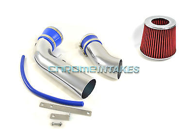 "RED 2007 2008 2009 Dakota//Durango 3.7L V6//4.7L V8 Dual Twin Air Intake Kit 3.5/"""