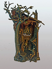 FRANZ BERGMAN COLD PAINTED AUSTRIAN BRONZE LAMP, VIKING'S LODGING