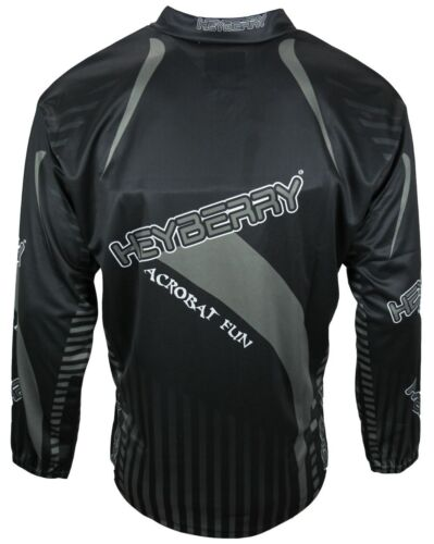 Heyberry Motocross MX Shirt Jersey schwarz grau Größe M L XL XXL