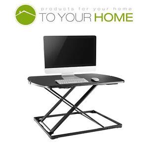 Height Adjustable Desk Sit Standing Riser Ergonomic Folding Computer