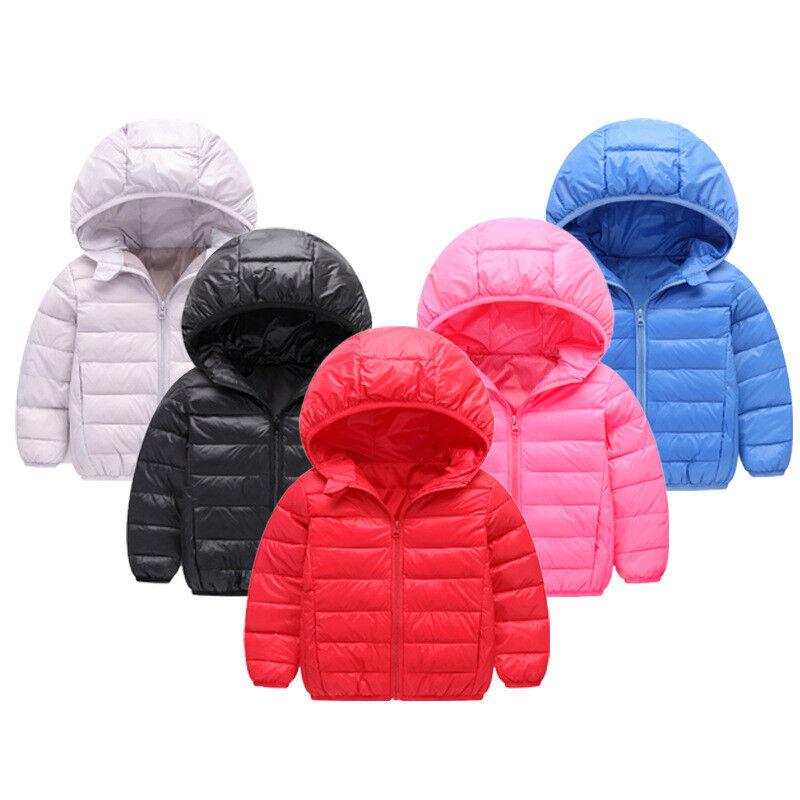 Kleinkind Baby Jungen / Mädchen Winter Down Oberbekleidung Kapuzenmantel Kinder Jacke Kleidung