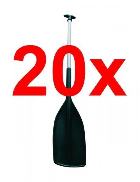 20x Stechpaddel Paddel Aluminium Kunststoffblatt für Kanu & Kajak 1,50m - NEU