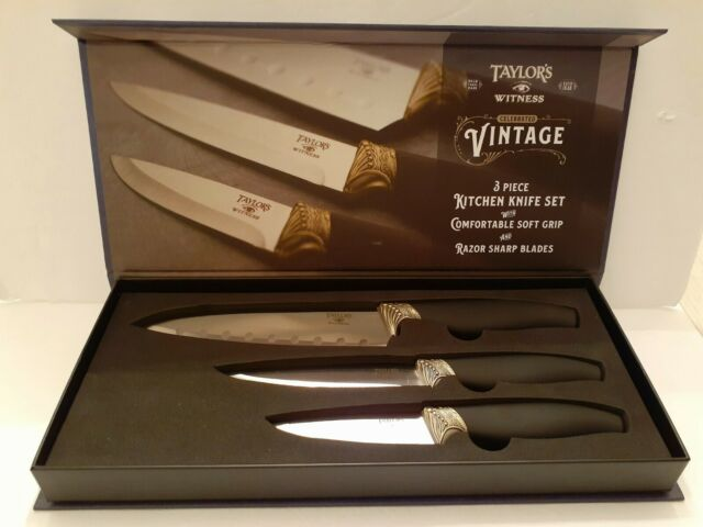 Taylor S Eye Witness 3pc Kitchen Knife Set Ceramic Coating Anti Bacterial For Sale Online Ebay