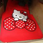 *** Red Hello Kitty Little Bow Waterproof Car Mats ***