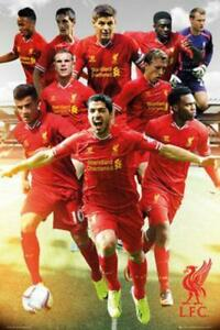 SOCCER POSTER Liverpool Football Team Photo 2013 2014
