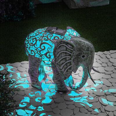 Globrite Metallo Silhouette Elefante Giardino Percorso Solare Led Luce Ornamentale-