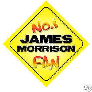 No-1-James-Morrison-Fan-Car-Door-Window-Hanger-Sign