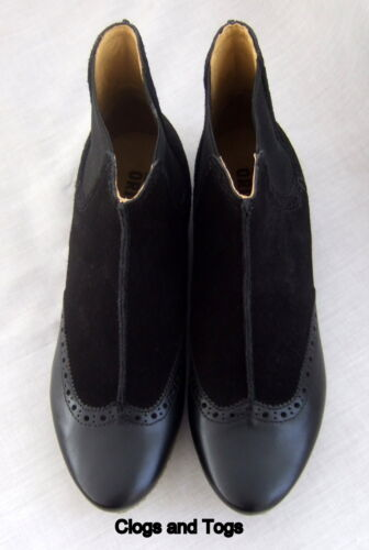NEW CLARKS ORIGINALS CRYSTAL COVE WOMENS BLACK SUEDE LEATHER ANKLE BOOTS